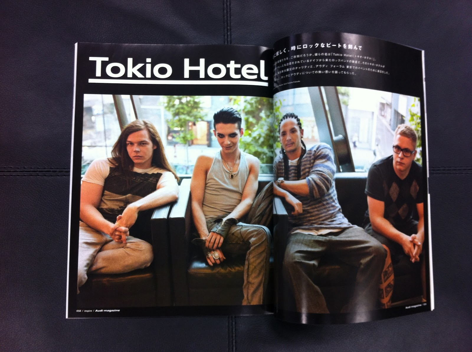 Thnoise audi magazine japan interview with tokio hotel for Hotel francs japan