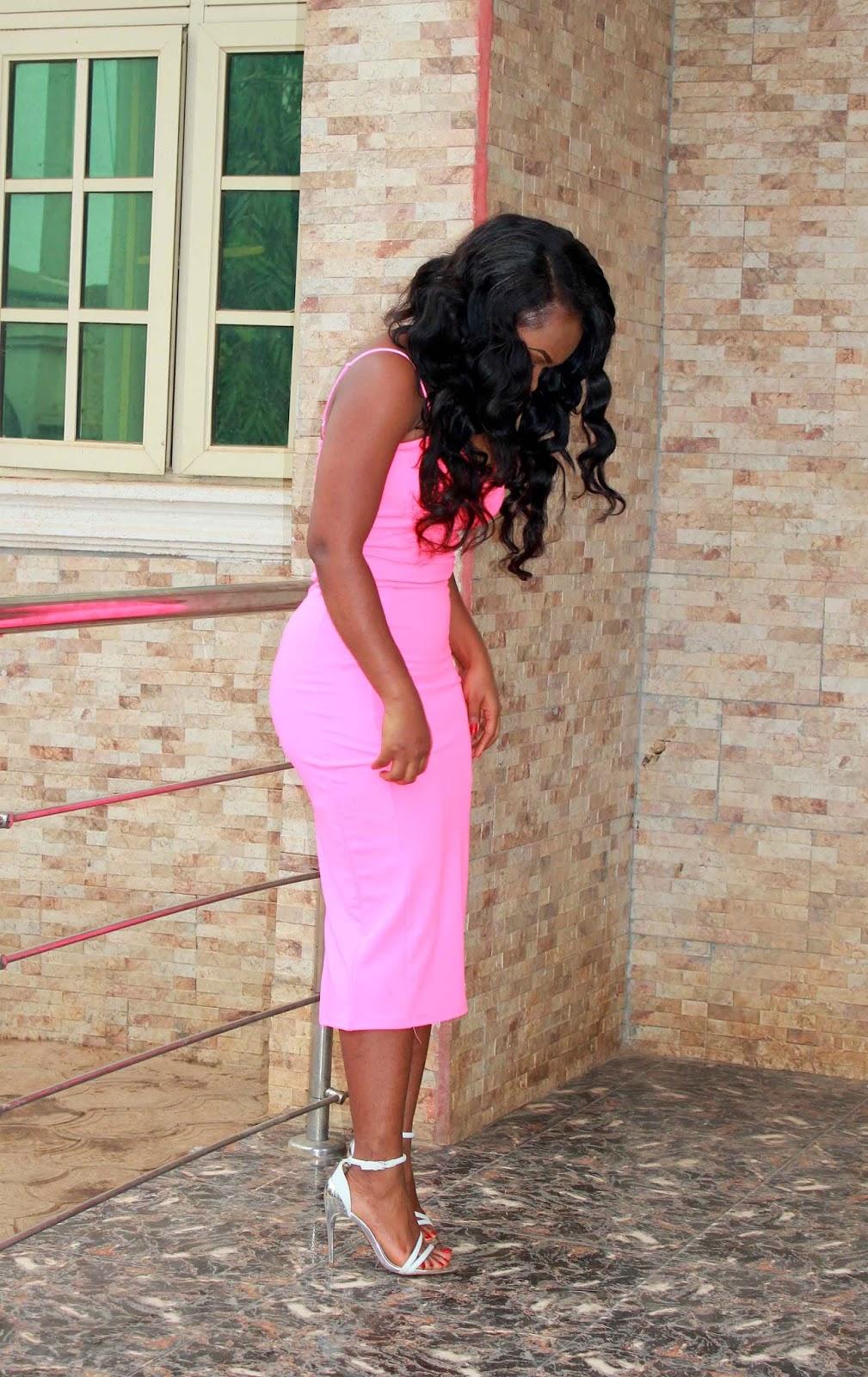 MissRebel neon midi dress