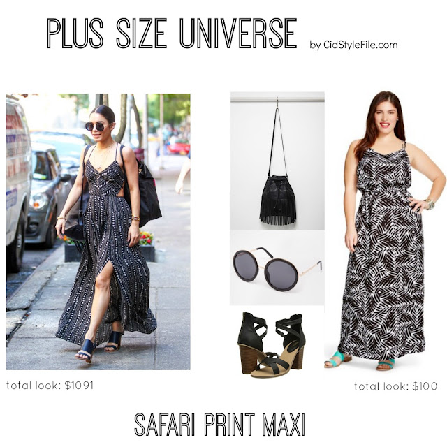 plus size fashion, plus size universe, cid style file, vanessa hudgens, celeb style, steal her style, maxi dress, summer style