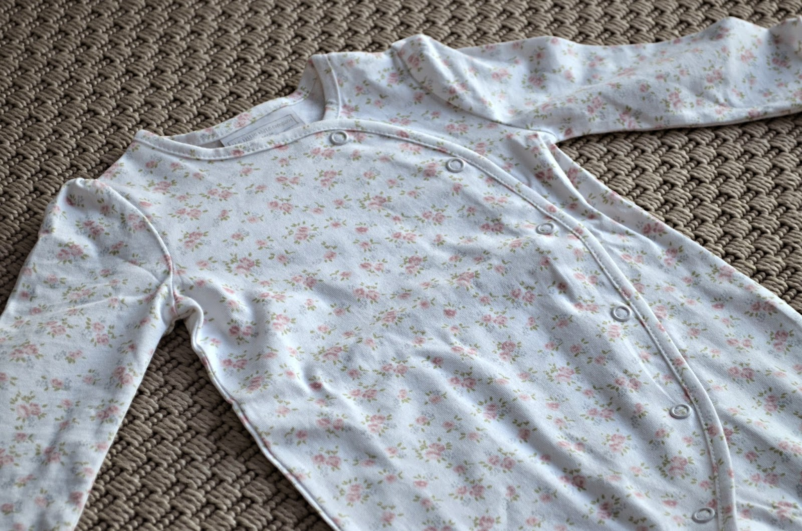the little white company floral wrap sleep suit