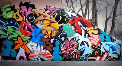 Colorful Graffiti Alphabet on Wall by Apes