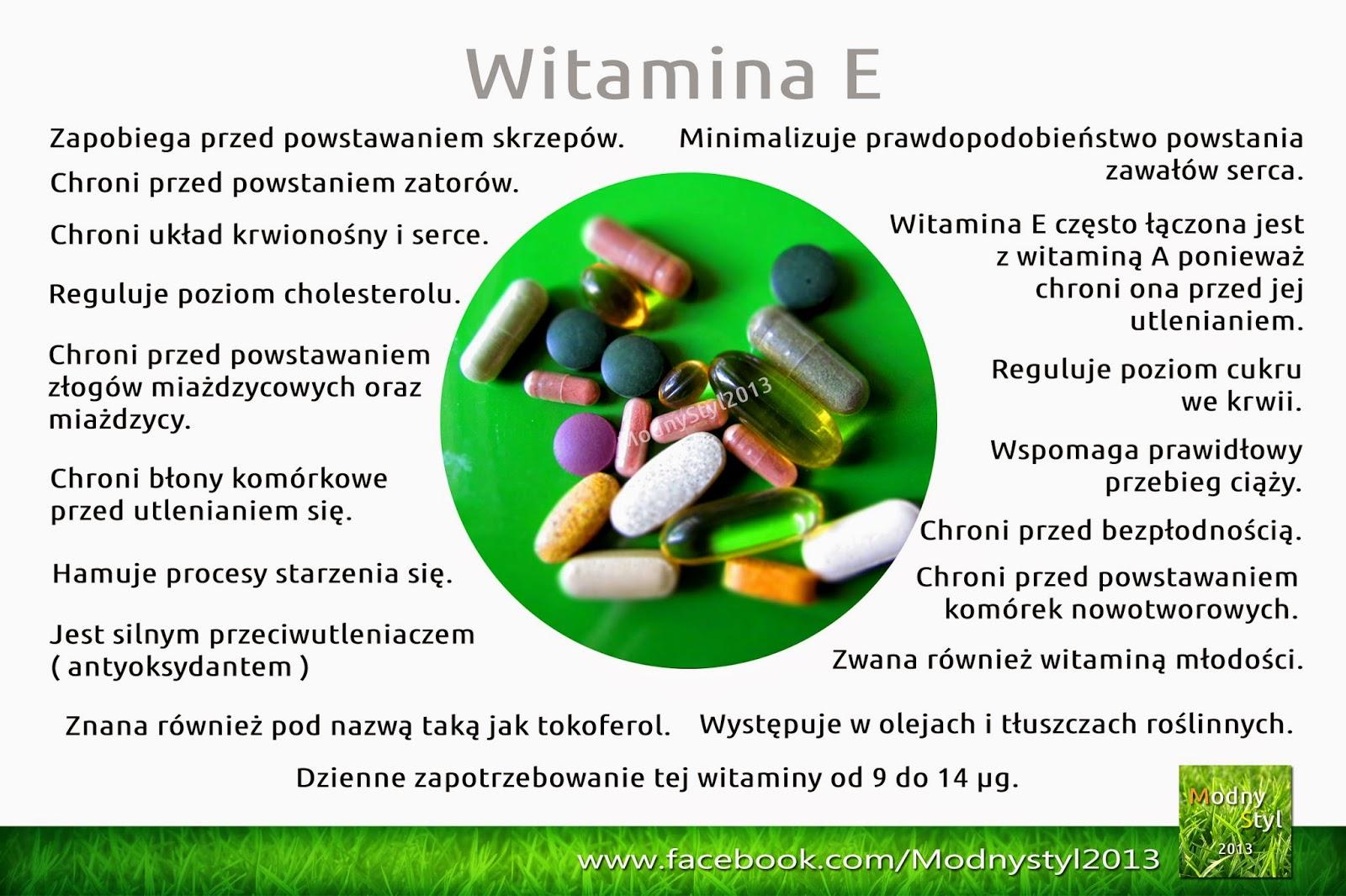 Witamina E zwana również tokoferolem