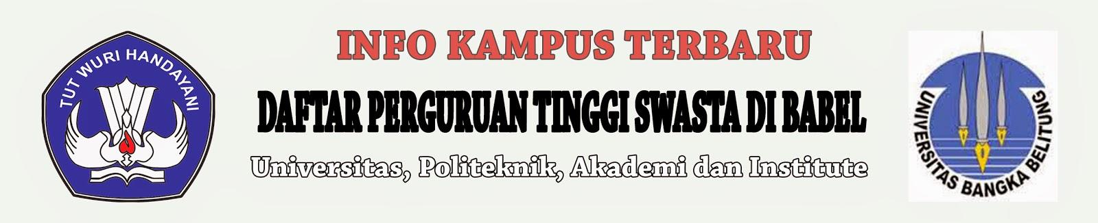 Daftar Perguruan Tinggi Swasta Di Bangka Belitung