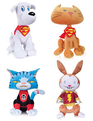 DC Comics Super Pets Plush Figures - Krypto, Streaky the Super-Cat, Dex-Starr & Hoppy
