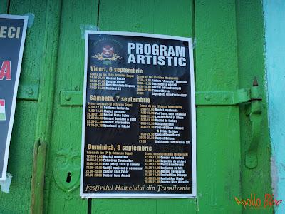 Program festivalul Hameiului
