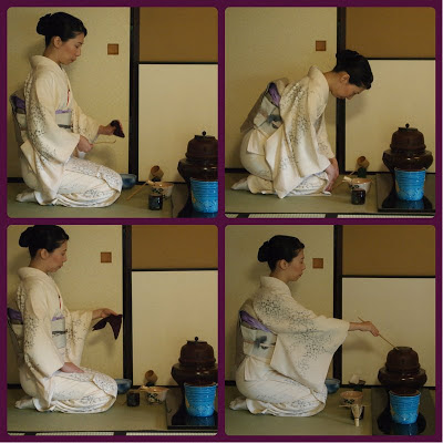 Preparing the Tea for Japanese Tea Ceremony