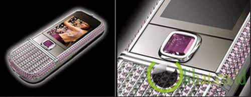 Nokia 8800 Arte with pink diamonds