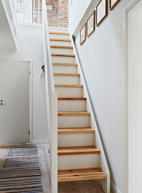 Otis frank narrow stairs - Staircase small space paint ...