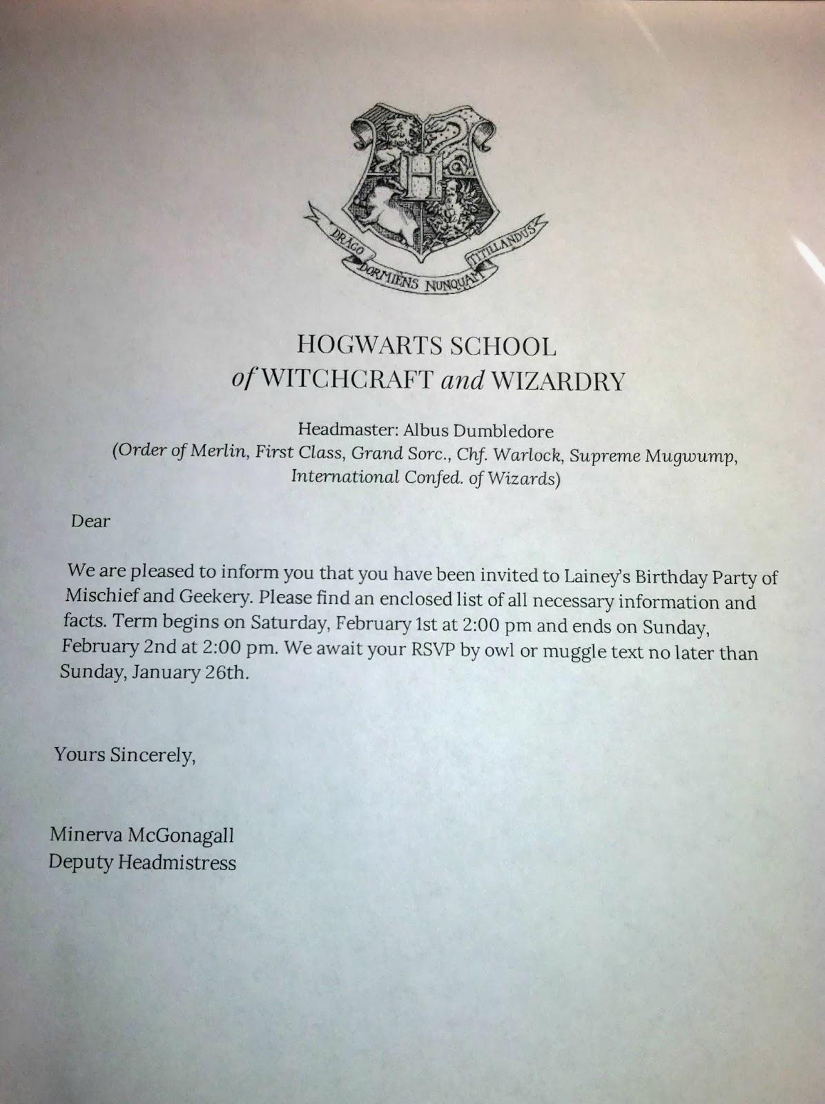 Beauty Oholic Hogwarts Acceptance Letter Party Invitations