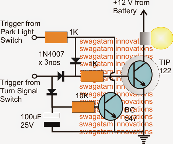 wiring diagram of car signal light wiring image modifying car turn signal lights park lights and side marker on wiring diagram of car signal