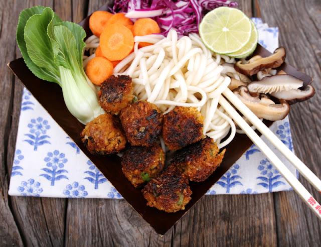 Oppskrift Risboller Veganske Kjøttfrie Middagsboller Ris Curry Paste Asiatisk Vegetarboller