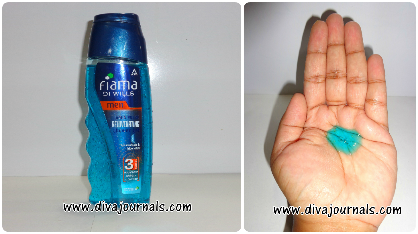 Fiama Di Wills Men - Aqua Pulse Rejuvenating Shower Gel (Dark Blue Bottle)