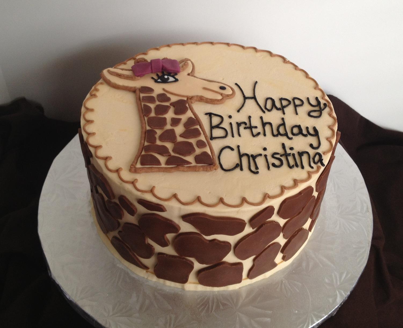 The Sugar Queen Giraffe Cake and Sunflower Cookies