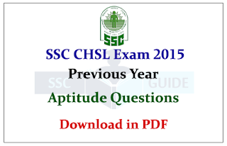 SSC CHSL- Previous Aptitude Practice Questions