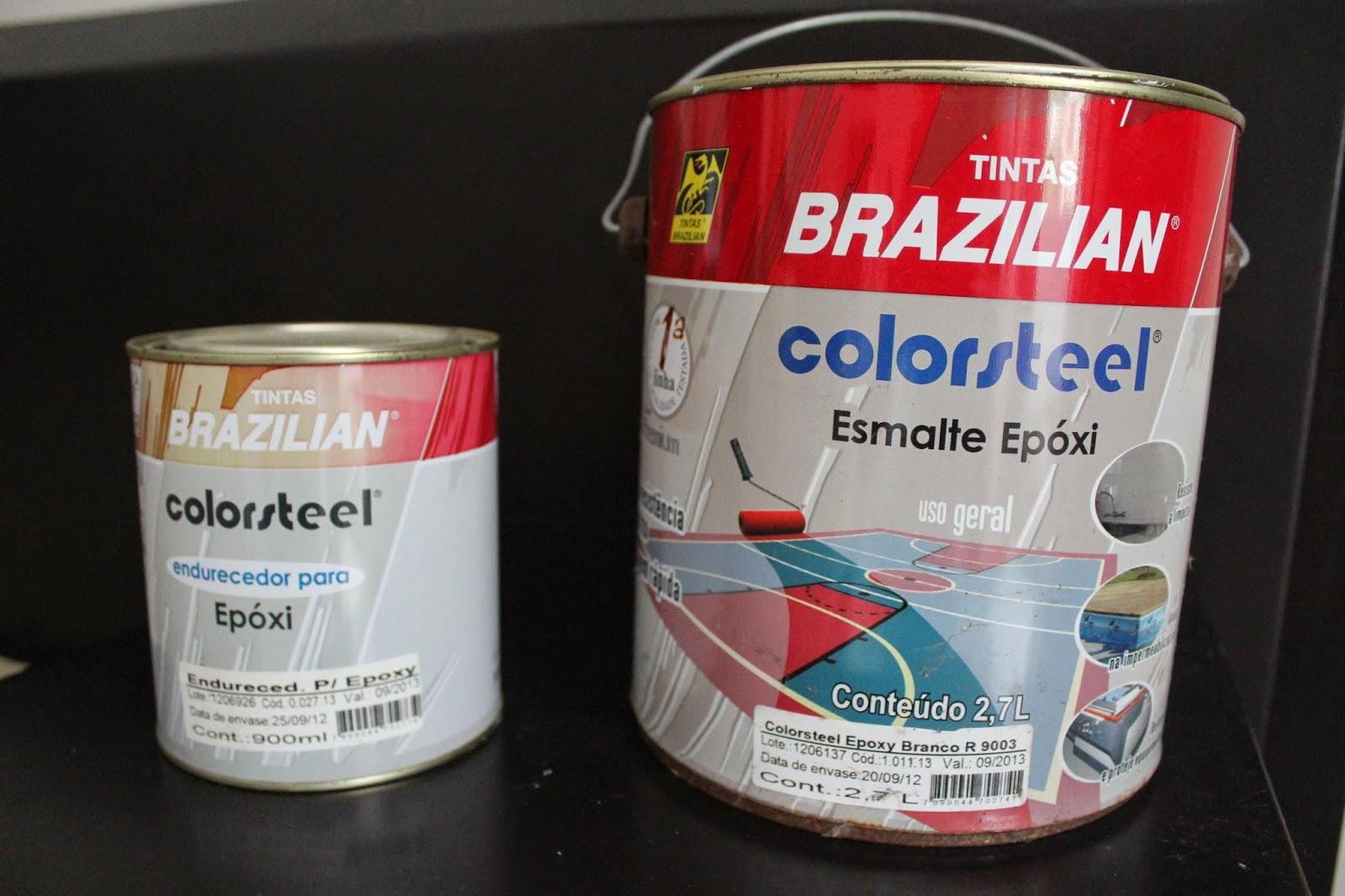 pintando móvel de fórmica com tinta epóxi