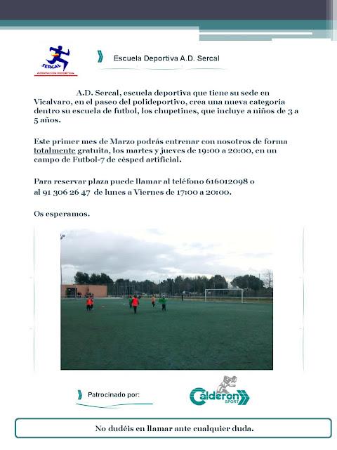 Escuela de fútbol AD Sercal