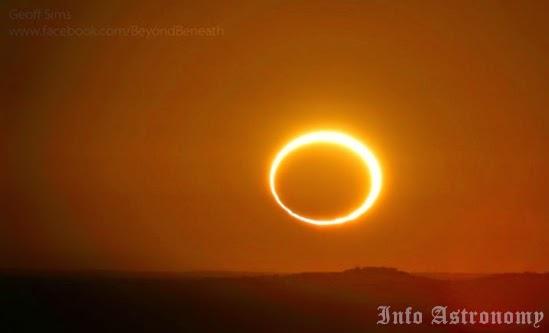 Gerhana Matahari Cincin Terjadi Selasa Siang