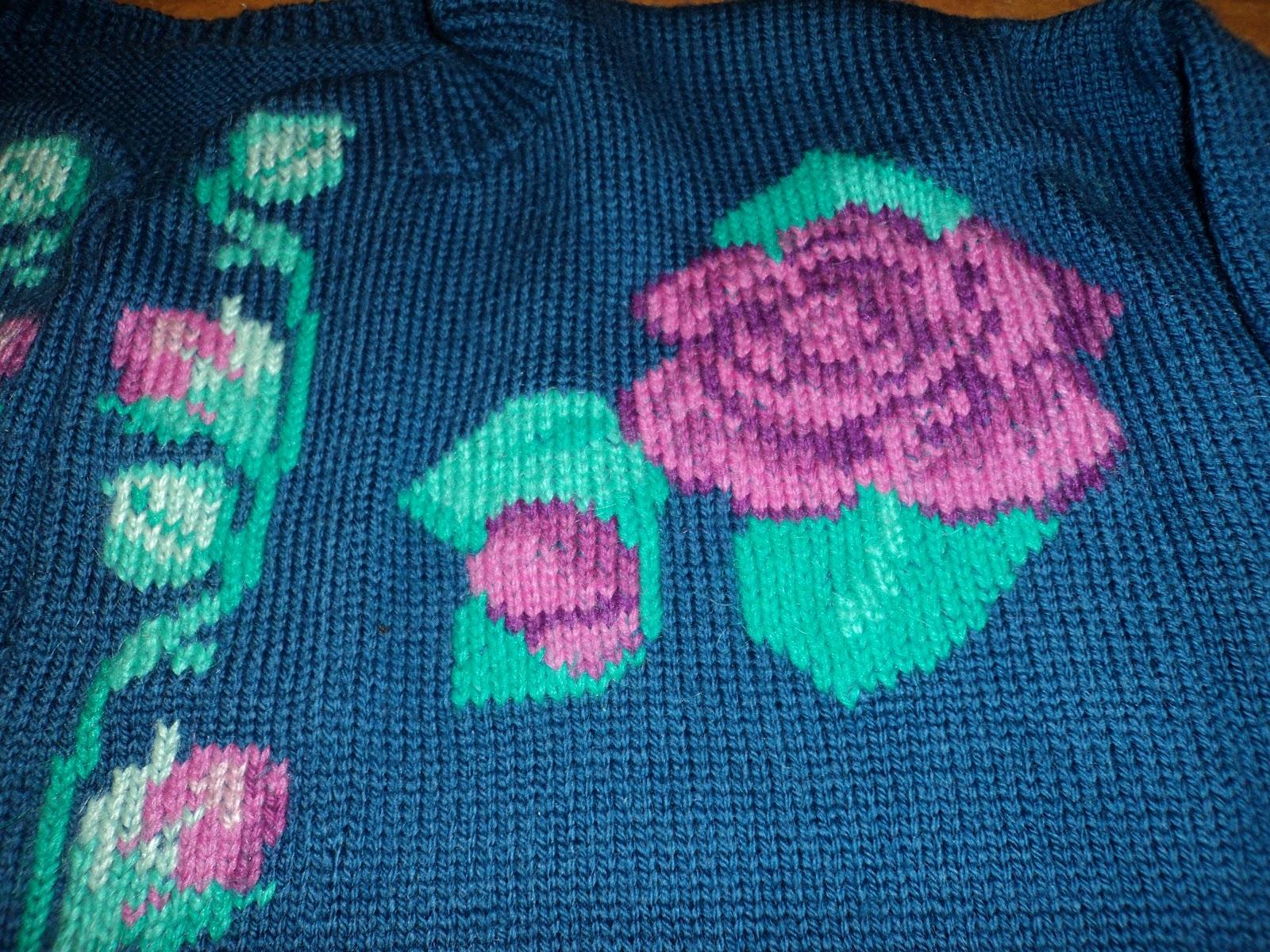 Knitting Rose Stitch : Riverside knitting machine knit rose jacket