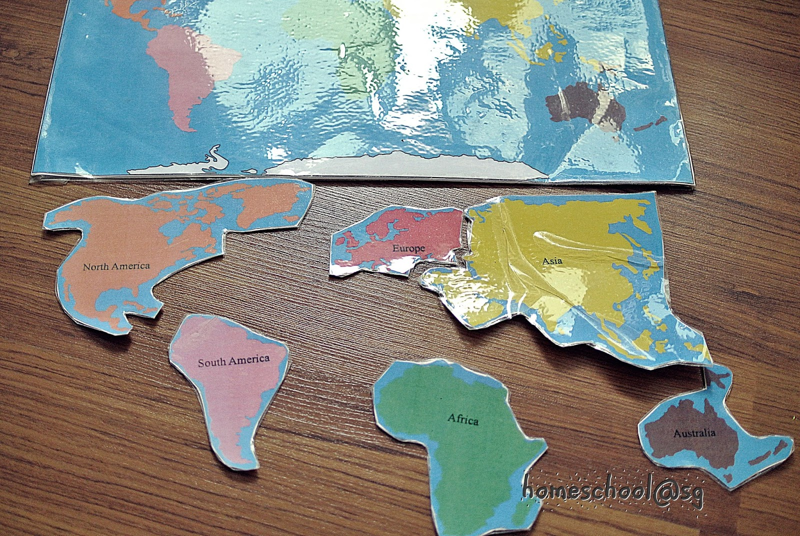 Homeschoolsg diy continent map i cannot wait for doll to work on it shes not quite ready yet though before that happens i decided to make a new continent map for her gumiabroncs Images