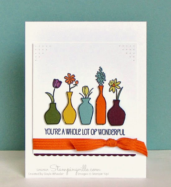 Stampingville: A freshly cut arrangement of new Stampin' Up! In Colors #papercrafts #cardmaking #StampinUp