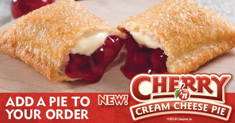 News: Popeyes - New Cherry and Cream Cheese Pie | Brand Eating