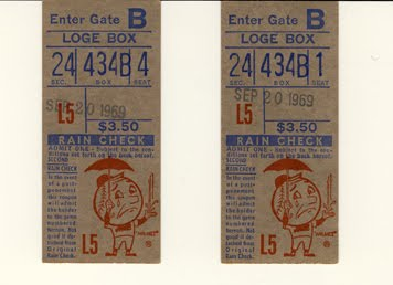 BOB MOOSE 9/20/69 NO-HITTER TICKETS