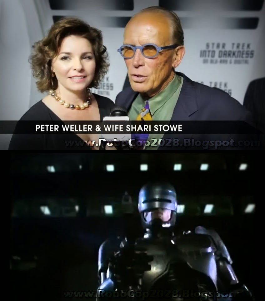Original 1987 RoboCop Peter Weller and Wife about 2014 Remake