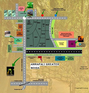 Amrapali Castle :: Location Map