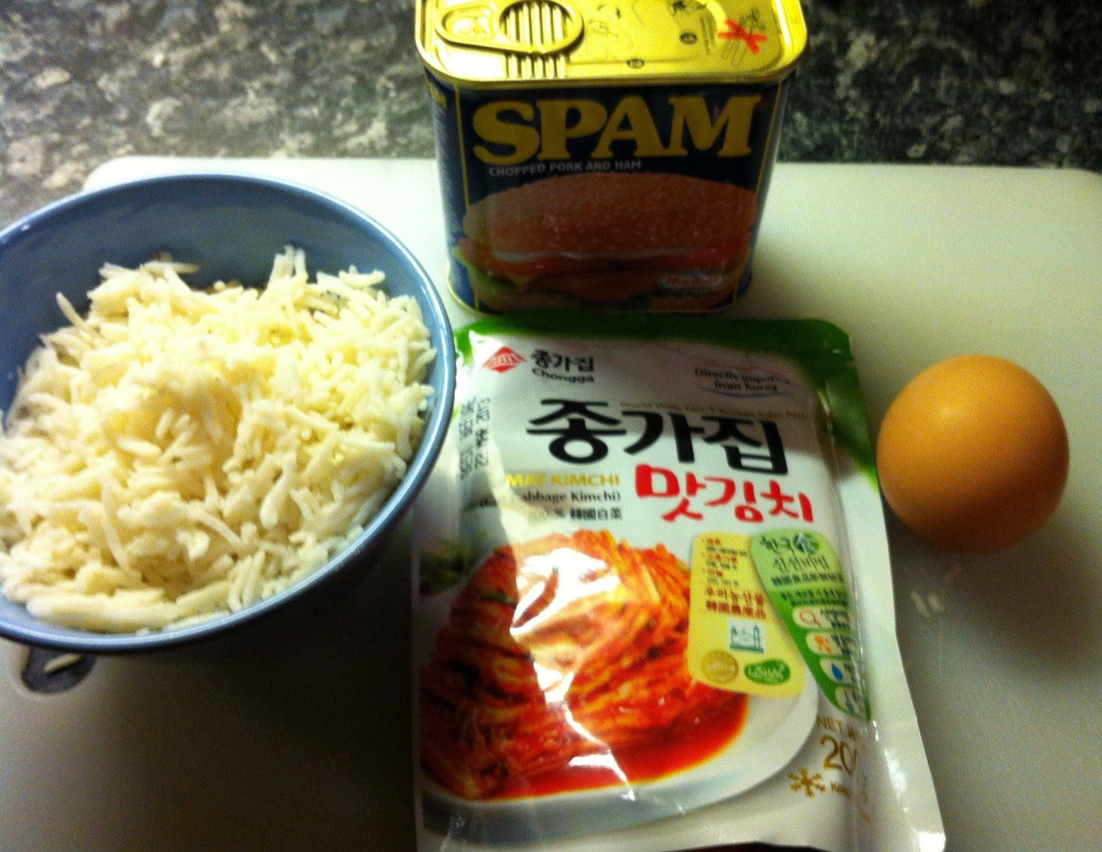 how to make kimchi fried rice with spam