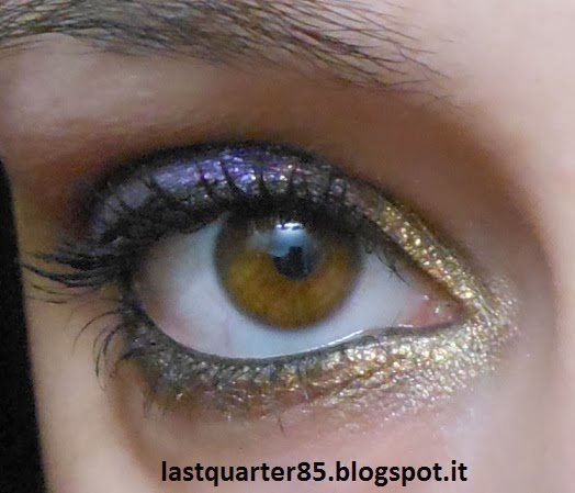 Make up viola e oro per l'ultimo dell'anno!