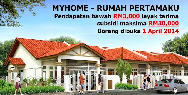 Cara memohon Rumah Skim MyHome 1 April 2014