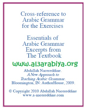 Cross reference to Arabic Grammar for the Exercises
