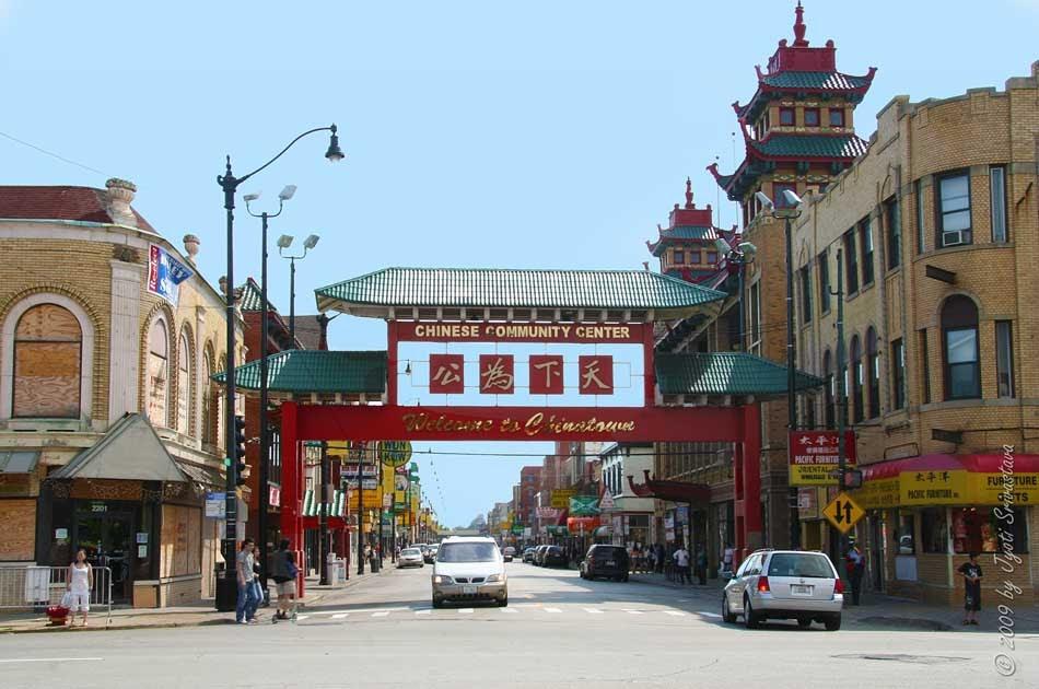 Public art in chicago chinatown gateway for Chinatown mural chicago