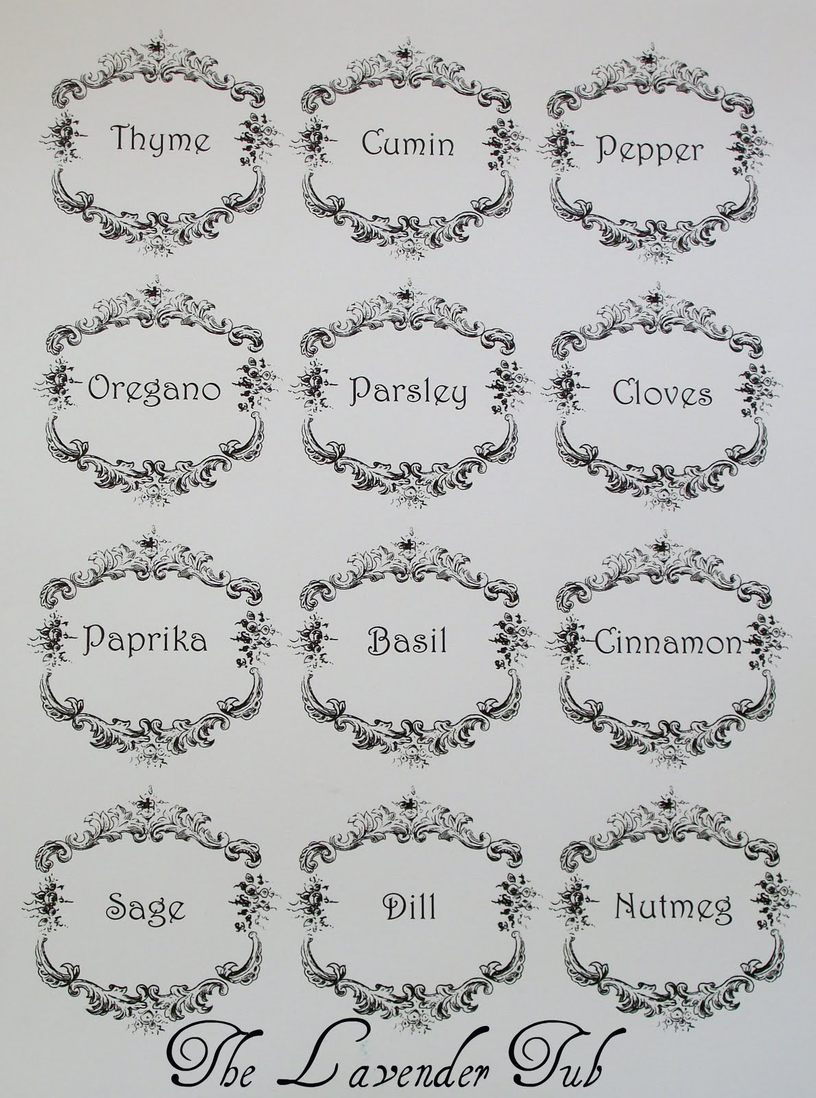 Remarkable Spice Rack Printable Labels 1190 x 1600 · 291 kB · jpeg
