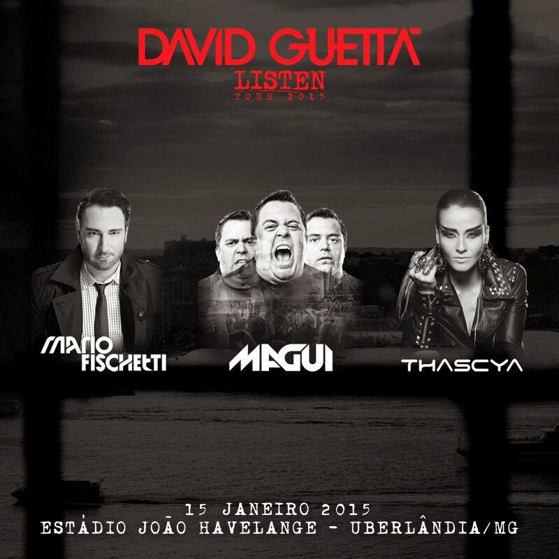 Line-up David Guetta em Uberlândia/MG