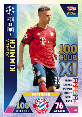 Topps Champions League 18//19 Sticker 83 Joshua Kimmich
