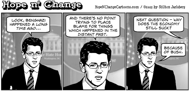 obama, obama jokes, jay carney, benghazi, long time ago, stilton jarlsberg, hope n' change, hope and change, conservative, political humor