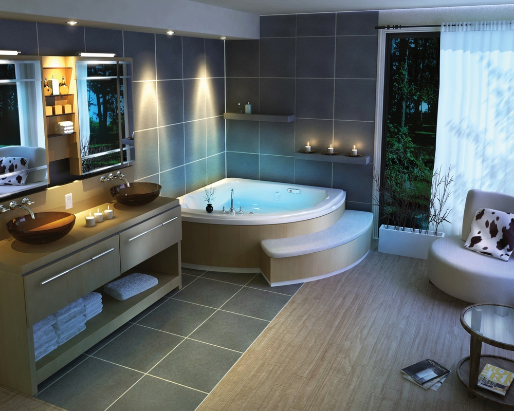 A feast for the eyes bathroom designs for Master bathroom decorating ideas