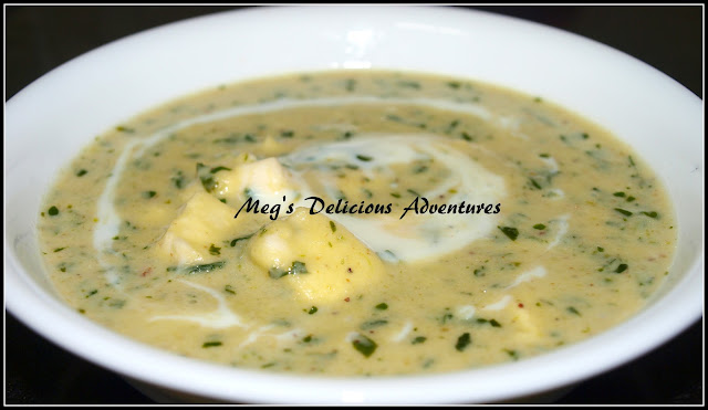 Methi Malai Paneer (Creamy Fenugreek leaves with Cottage Cheese)