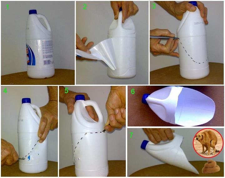 mini jardim em garrafas:Crie uma mini pá com reciclagem de garrafas » Artesanatos Reciclagem