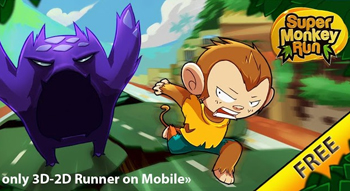 Juega Super Monkey Run Lite en tu celular