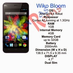 Wiko Bloom specs and stock rom download