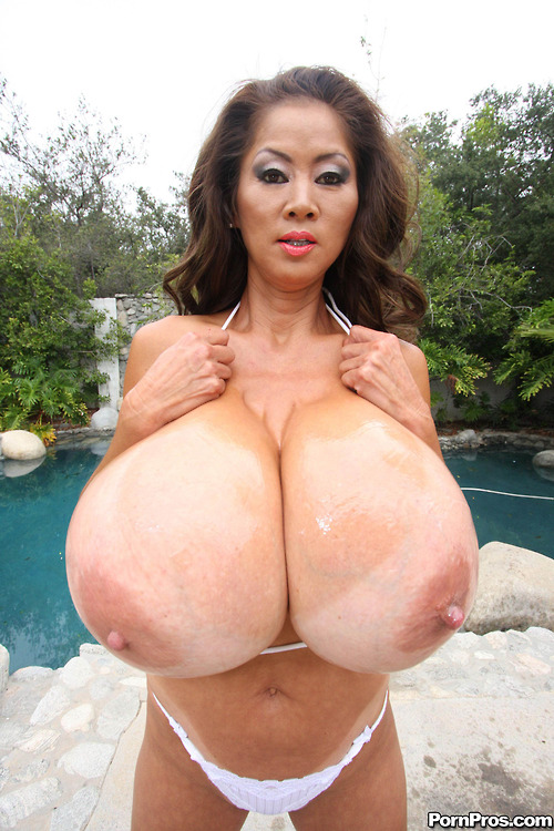 Asian big boob minka queen