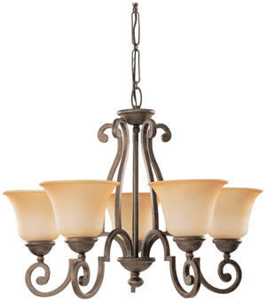 Sea Gull 39032BLE-71 5 Light Brandywine Fluorescent Chandelier Antique Bronze