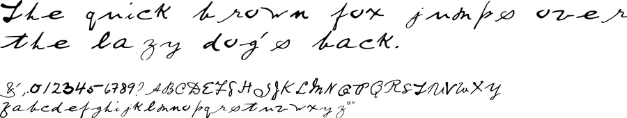 Download the H.G. Wells handwriting font