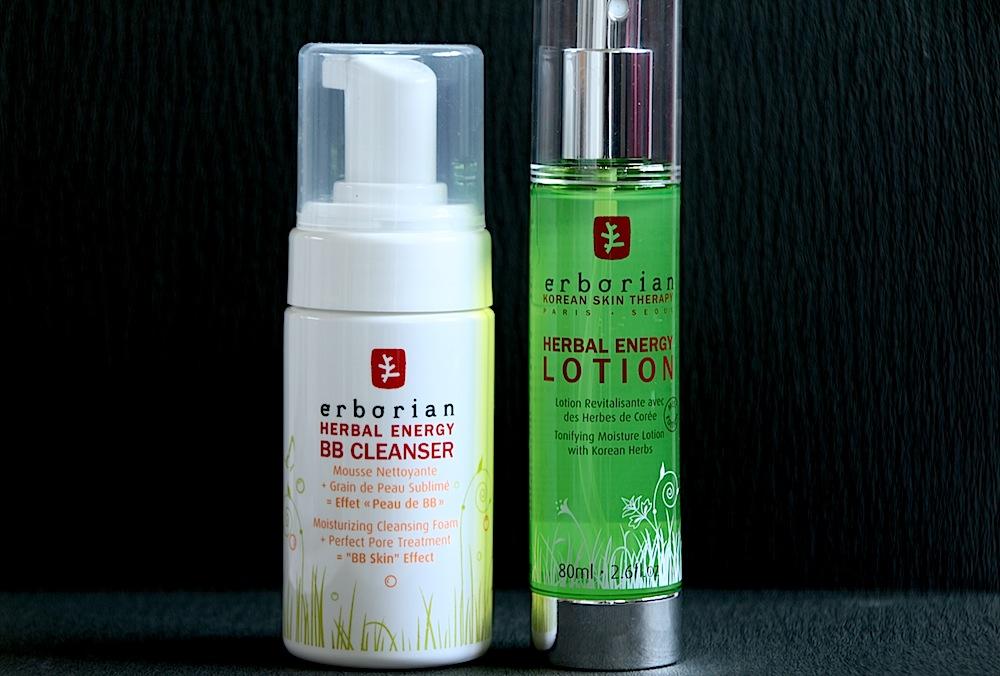 erborian bb cleanser herbal energy lotion avis test