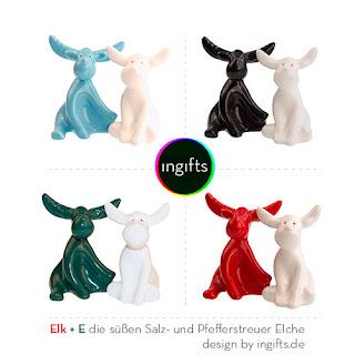 Salz- und Pfefferstreuer Elche von ingifts.de
