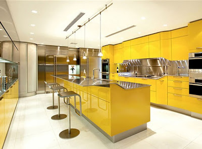 Yellow Kitchen Furniture Contemporary