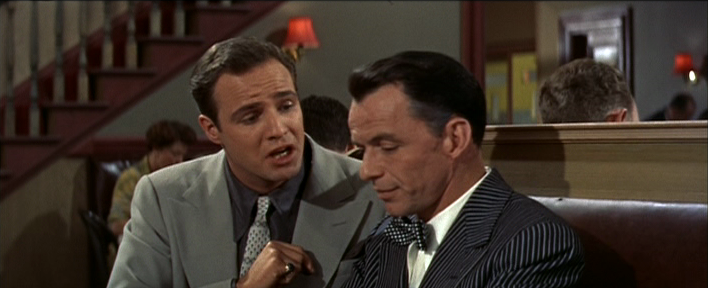 Frank Sinatra and Marlon Brando Guys and Dolls 1955 movieloversreviews.blogspot,com