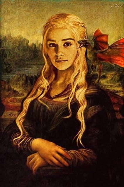 Daenerys mona lisa - Juego de Tronos en los siete reinos